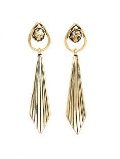 Renegade Gold Earrings - Earrings | Vanessa Mooney Jewelry