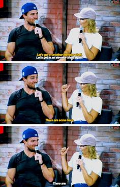 """""""I would do that again."""" - Stephen & Emily at #NerdHQ panel #sdcc2016"""