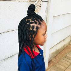 This is an impressive box braid hairstyle for kids. This hairstyle will definite. Box Braids Hairstyles For Black Women, Kids Braided Hairstyles, Winter Hairstyles, Trending Hairstyles, Little Girl Hairstyles, Hairstyles Haircuts, Cool Hairstyles, Kids Hairstyle, Braids For Kids