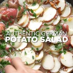 Tasty Videos, Food Videos, German Recipes Dinner, Authentic German Potato Salad, German Potatoes, Oktoberfest Food, European Cuisine, Potato Side Dishes, Easy Casserole Recipes