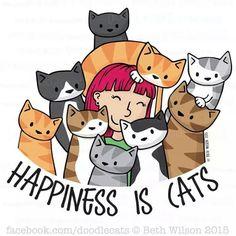 Porque la vida sin gatos no es vida  #DiaInternacionaldelaFelicidad