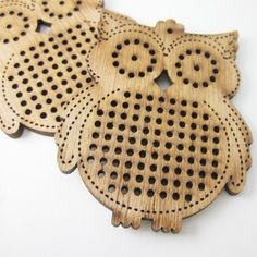 2 pcs. of Owl cross stitch blank, wood pendant blank, needle craft pendant brooch necklace button. DIY, Embroidery by thaifabshop on Etsy https://www.etsy.com/listing/204783301/2-pcs-of-owl-cross-stitch-blank-wood