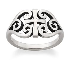 Scroll Cross Ring in Mother's Day 2013 from James Avery Jewelry on shop.CatalogSpree.com, my personal digital mall.