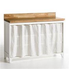 comptoir de famille brise bise rideau cuisine vichy rouge 60x90 couture rideaux. Black Bedroom Furniture Sets. Home Design Ideas