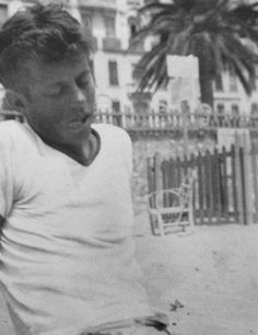 Tongue out tired. John F. Kennedy during his trip to Europe, 1937. He was a boy once.