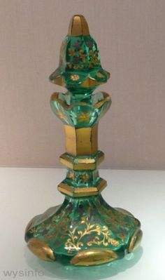Bohemian perfume bottles from 19th Century - Haaretz Museum Glass Exhibition, Tel Aviv