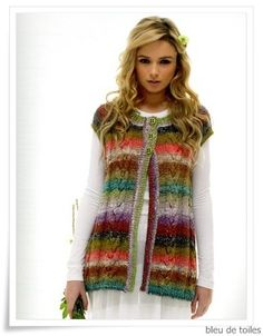 Knitted vest - Noro