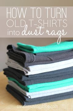 Ever wondered what to do with tees that were stained, had holes, and generally weren't good enough to donate? This tutorial teaches you how to turn old t-shirts into dust rags, and includes the secret to getting crisp edges every time!