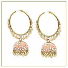 Indian Asian Bollywood Meenakari style hand painted jhumki earrings. Also available in different colours.