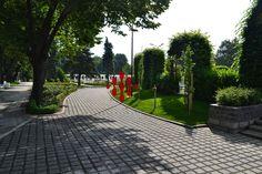 Parcul Rozelor ~ Timisoara    Roses Park ~ Timisoara Parks, Sidewalk, Roses, Pink, Side Walkway, Rose, Walkway, Walkways, Parkas