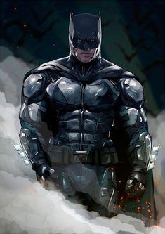 Ben Affleck as Batman from Justice League - Gregory Kovalev Batman Poster, Batman Vs Superman, Batman Artwork, Batman Dark, Batman Comic Art, Batman Wallpaper, Batman The Dark Knight, Batman Robin, Batman 2017