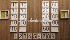 Les tables de Séguin - pédagogie Montessori