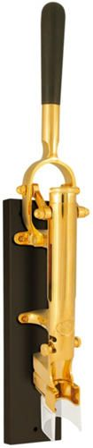 BOJ's stunning gold plated wall mounted corkscrew with ebony handle and backing is truly a sign of superior taste & class. Direct Ship/Special Order Only Gold Corkscrew - Art Van Furniture