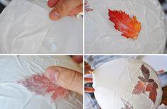 leaf lantern making