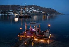 Kivotos Mykonos Hotel is a Luxury, Boutique, 5 Star hotel located in the Ornos area in Mykonos, Cyclades, Greece. Mykonos Hotels, Mykonos Town, Mykonos Greece, Romantic Destinations, Romantic Places, Romantic Night, Romantic Table, Romantic Things, Romantic Moments