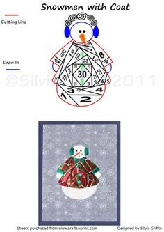 Snowmen with fancy coat IF on Craftsuprint designed by Silvia Griffin - Fashionable Snowmen. Not just for Christmas - he great for a winter Birthday card or Anniversary with a red coat