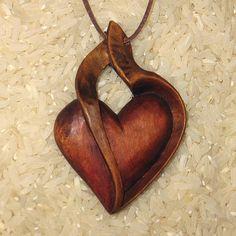 přívěsek - Srdce 3 heart pendant necklace