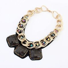 Thick Exaggerated Metal Chain Necklaces Personality