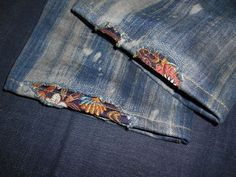 repair jeans Most recent Cost-Free Jeans custom # custom embroidery Style I enjoy Jeans ! And much more I love to sew my own personal Jeans. Next Jeans Sew Along Im like Sewing Hacks, Sewing Crafts, Sewing Projects, Artisanats Denim, Jeans Recycling, Repair Jeans, Sashiko Embroidery, Custom Embroidery, Boro