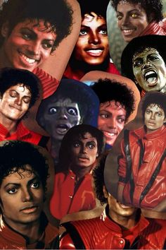 Mj Thriller faces!! The King of Style, Pop, Rock and Soul! |  Michael Jackson Photo Collage & Montages that I love! - by ⊰@carlamartinsmj⊱
