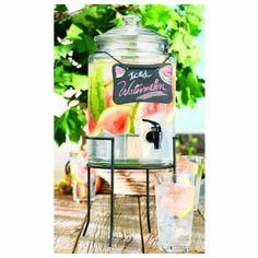 nice Home Essentials 7900 Del Sol Chalkboard 1.5 Gallon Jug With Stand,  #HomeEssentialsJuicers&Blenders