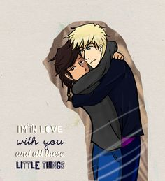 Piper McLean and Jason Grace - the song is Little Things (: