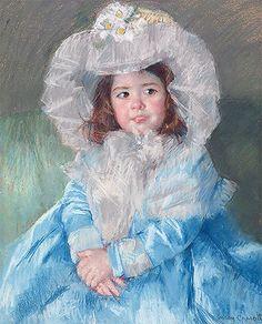Title: Margot In Blue, 1902 Artist: Mary Stevenson Cassatt Medium: Fine Art Paper Print