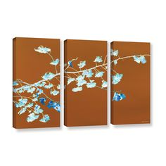 Just Leaving by Lora Mosier 3 Piece Gallery-Wrapped Canvas Set