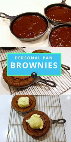 Personal Pan Brownies to Make When You Don't Want to Share Make a single serve brownie with this recipe. Single Serve Brownie, Single Serve Desserts, Single Serving Recipes, Individual Desserts, Mini Desserts, Just Desserts, Cast Iron Brownie Recipe, Brownie Recipes, Cookie Recipes