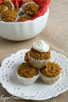 Gluten Free Apple Carrot Quinoa Mini Muffins (No Sugar Added)