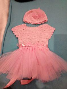 Vestido de bebe a crochet