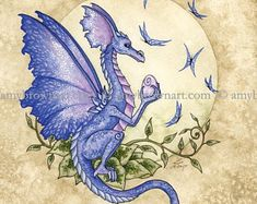 Fairy Art Artist Amy Brown: The Official Online Gallery. Fantasy Art, Faery Art, Dragons, and Magical Things Await. Dragon Images, Dragon Pictures, Dragon Pics, Fantasy Dragon, Fantasy Art, Elves Fantasy, Cute Dragon Drawing, Amy Brown Fairies, Dark Fairies