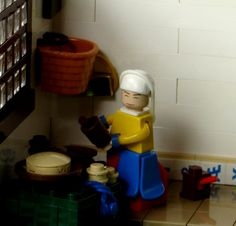 A Playmobil version of The Milk Maid (Het Melkmeisje) by Vermeer. #greetingsfromnl