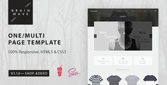 Brainwave — Multipurpose One/Multi Page Template • Download theme ➝…
