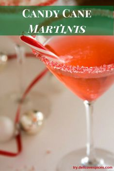 Our Candy Cane martini recipe is a bright, fun and merry cocktail will surely keep your (and Santa's) spirits bright at your next holiday party. It's easy to make the peppermint vodka at home, by infusing vodka with candy canes. Then garnish your martini glasses using our Candy Cane cocktail sparkle sugar. via @dellcovespices