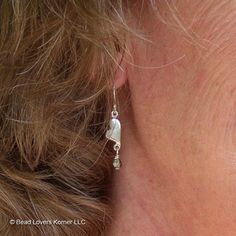 Heart Jewelry Sterling Silver Earrings by beadloverskorner on Etsy