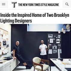 Apparatus in the New York Times Style Mag via apparatusstudio