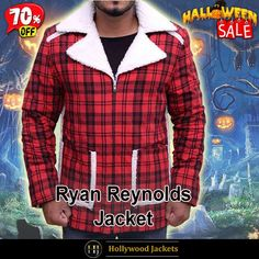 #Halloween Hot offer Get 70% #Movie Deadpool Ryan Reynolds #WadeWilson Shearling Flannel Jacket. #HalloweenSale #Halloween #Sale #2021 #OOTD #Style #Cosplay #Costum #men #fashionstyle #women #jacket #shopnow #Clothes #cotton #discountoffer #outfit #tvseris #onlineshopping #discount #buymypremium #celebrities #offers #fashion #movie