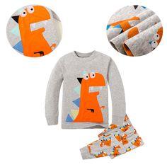 2pcs Children Sleepwear Cartoon Printed Outfits Nightwear Pajamas Pj's Clothes #Unbranded #PajamaSets