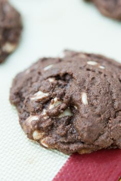 The softest chocolate white chocolate chip cookies! ohsweetbasil.com