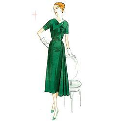 Patron de robe et ceinture - Vogue 8850