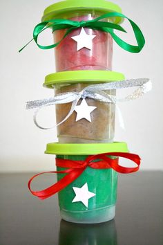 DIY Christmas Gift for Kids...make play dough sets for friends, neighbors, or classmates.