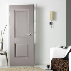 Grey Arnhem 1 Light Internal Door Internal Grey Primed Clear Glazed Arnhem Door Grey doors are fast becoming the popular choice, both charming and appealing but at the same time offering excellent value for money. Interior Door Styles, Painted Interior Doors, Black Interior Doors, Gray Interior, Painted Doors, Wooden Doors, Traditional Interior Doors, 2 Panel Interior Door, Grey Internal Doors