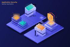 Application Security - Vector Illustration - AI, EPS