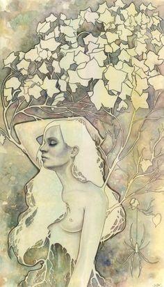 Asunder_web - kelly mckernan beautiful watercolour works inspired by Mucha