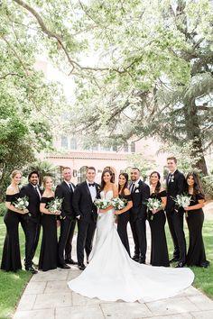 Fairmont Sonoma Wedding by Cheers Babe Photo Wedding Picture Poses, Wedding Poses, Wedding Attire, Bridal Party Poses, Bride Poses, Wedding Portraits, Wedding Pictures, Black Tux Wedding, Black And White Wedding Theme