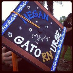 my grad cap! proud to be a gator nurse :)