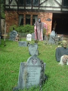 eerie outdoor halloween decorations homes deck out your front door porch - Homes Decorated For Halloween