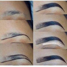 53 Ideas For Makeup Tutorial Brows Make Up – – Eyebrows World Eyebrow Makeup Tips, Contour Makeup, Skin Makeup, Eyeshadow Makeup, Beauty Makeup, Makeup Eyebrows, Makeup Tricks, Eyebrow Pencil, Makeup Tutorials