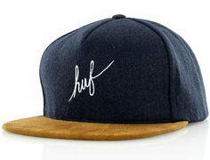 script wool navy snapback cap huf 1